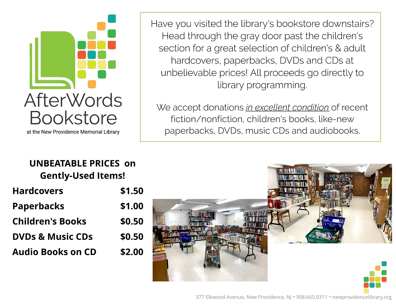 AfterWords Info Pricing sm